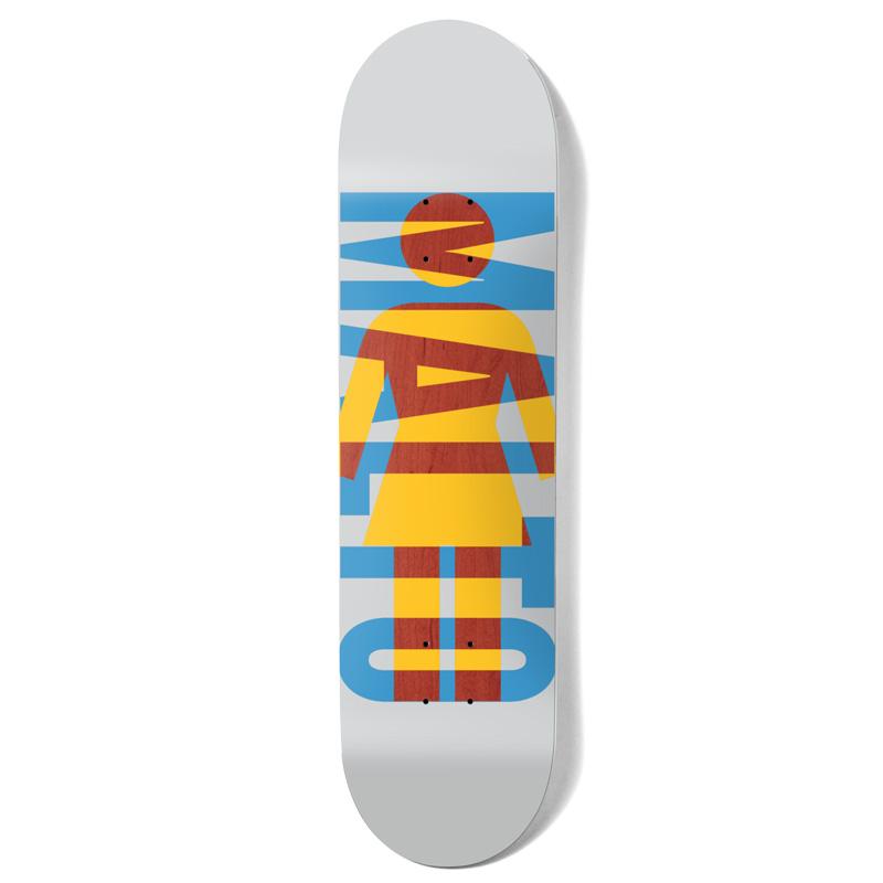 Girl Malto OG Knockout Skateboard Deck White 8.25
