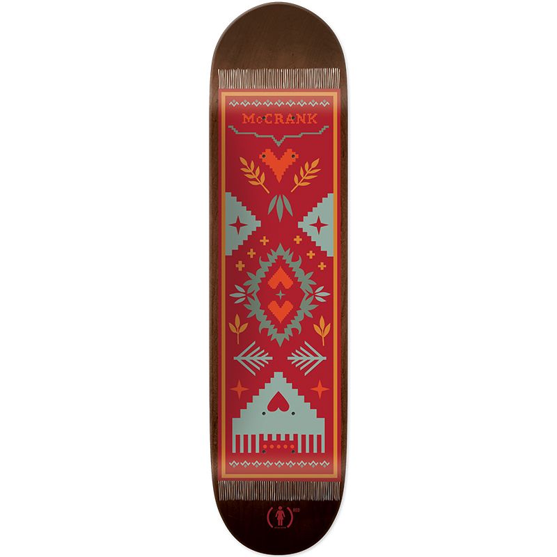 Girl McCrack Magique Carpet Red Skateboard Deck 8.375