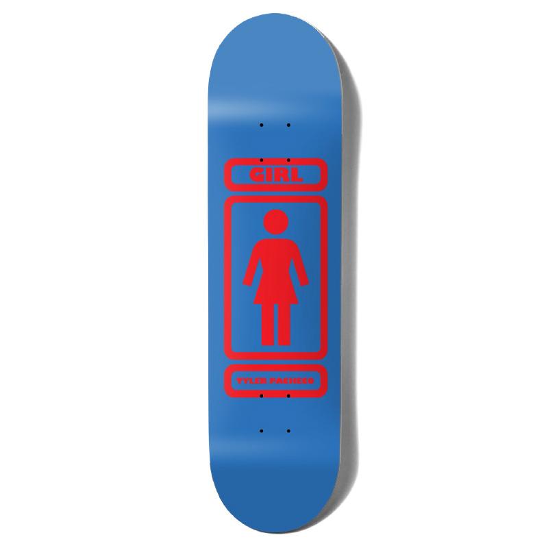 Girl Pacheco 93 Til Skateboard Deck Blue/Red 8.375