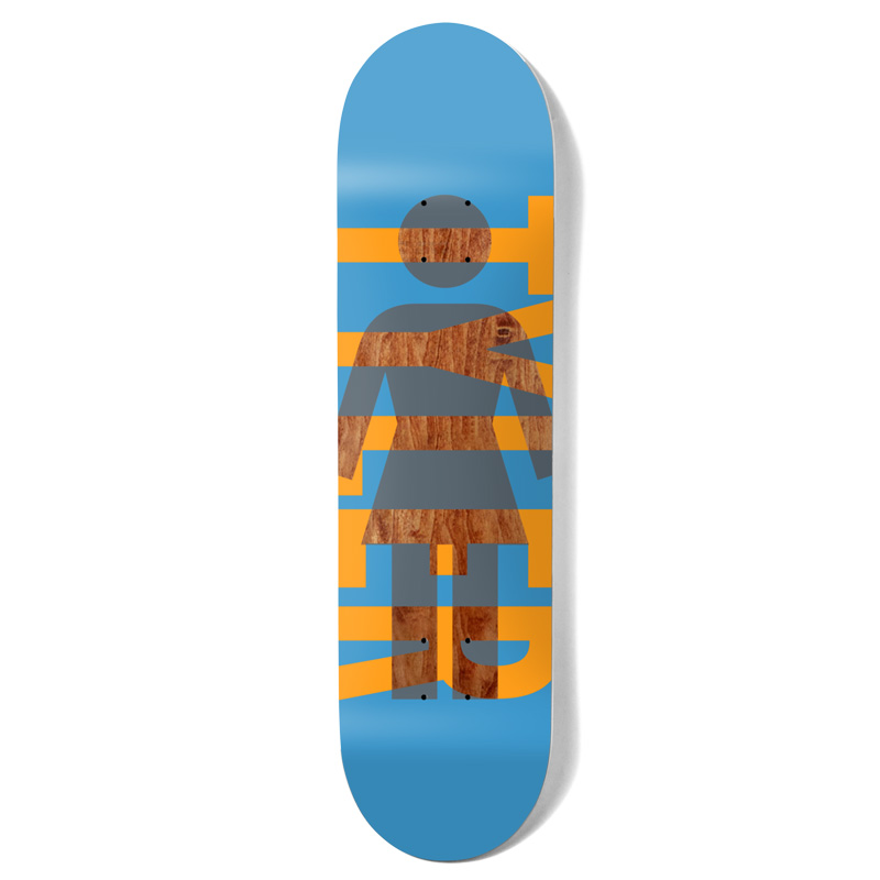 Girl Pacheco OG Knockout Skateboard Deck Blue 7.75