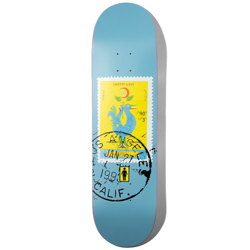 Girl Postal Griffin Gass Skidul Shape Skateboard Deck 8.5