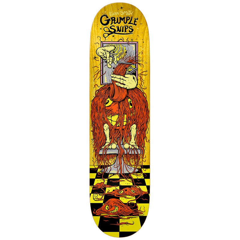 Grimple Stix Evan Grimple Snips Skateboard Deck 8.25