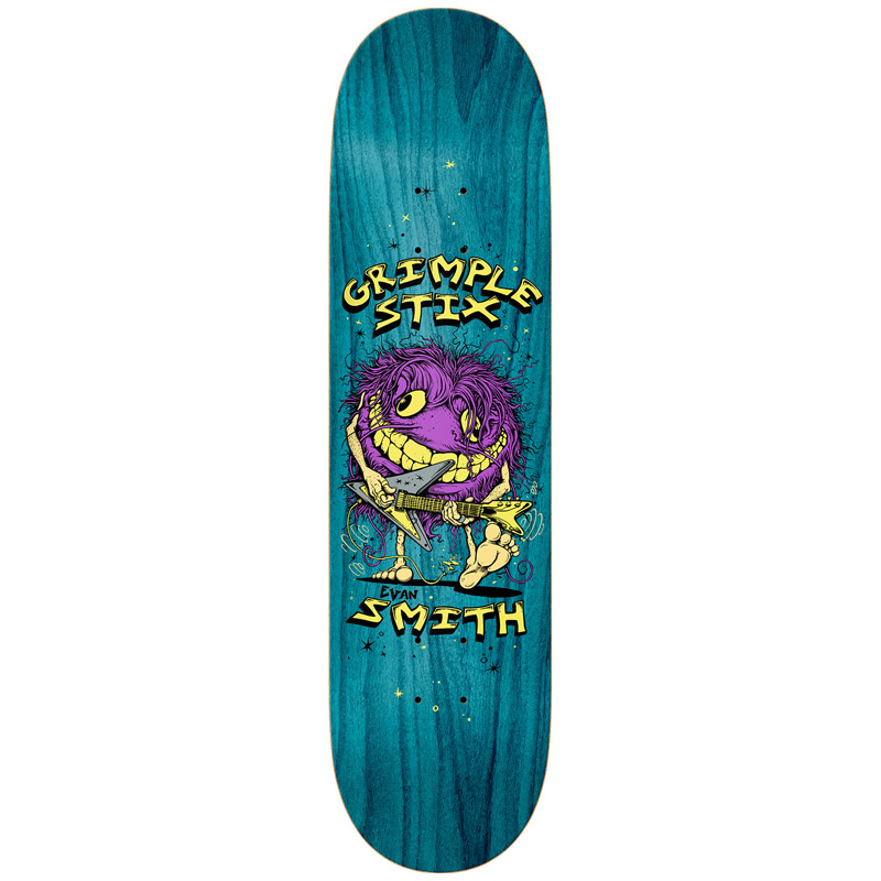 Grimple Stix Evan Smith Family Band Skateboard Deck 8.5
