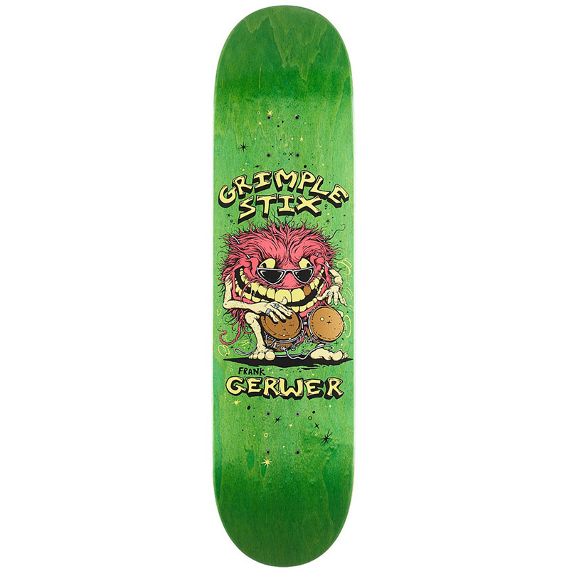 Grimple Stix Gerwer Family Band Skateboard Deck 8.38