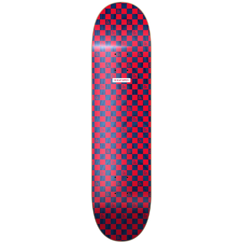 Heart Supply Luxury Checkers Skateboard Deck Red/Blue 8.0