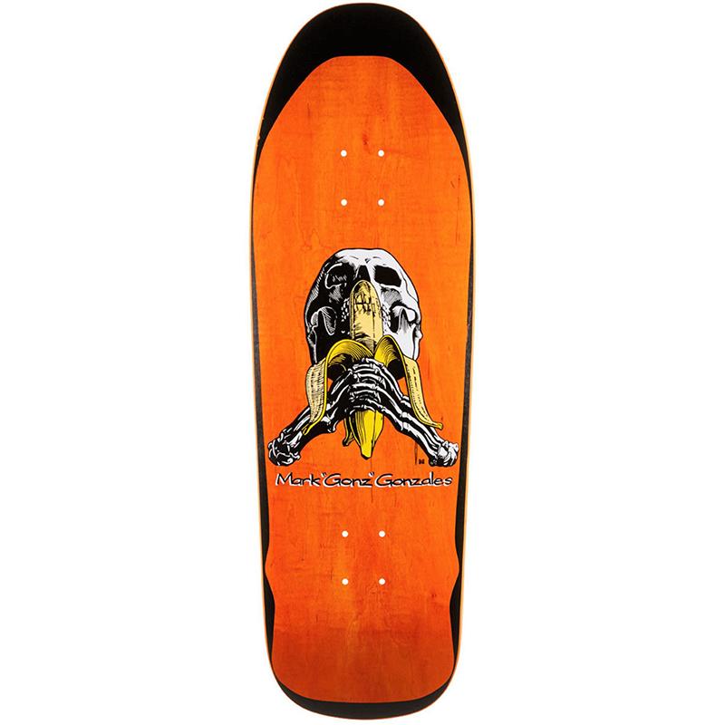 Blind Heritage Gonzales Skull and Banana Screenprinted Skateboard Deck 9.875