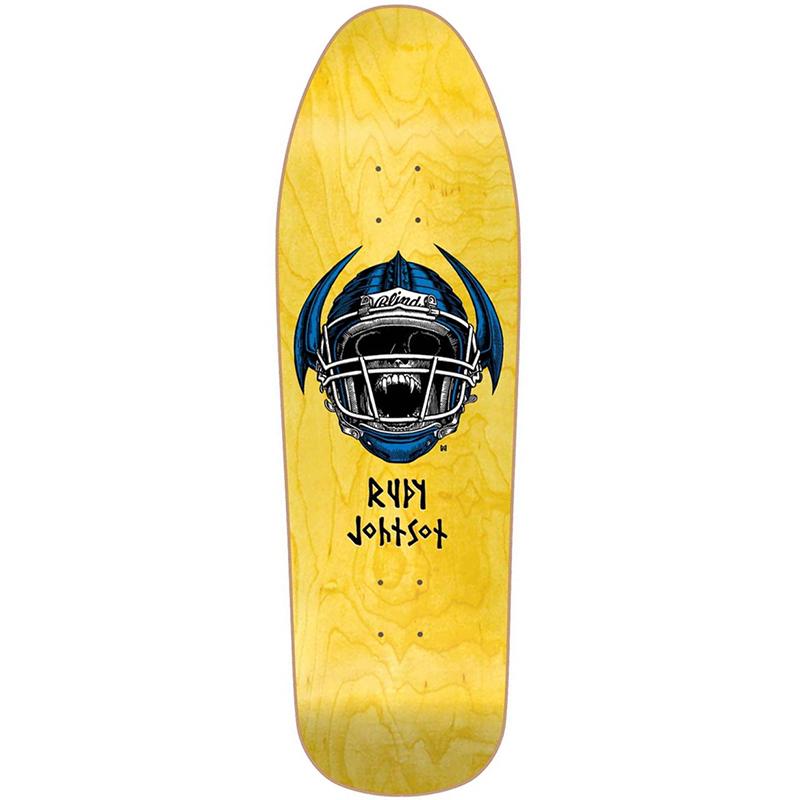 Blind Heritage Johnson Jock Skull Screenprinted Skateboard Deck 9.875