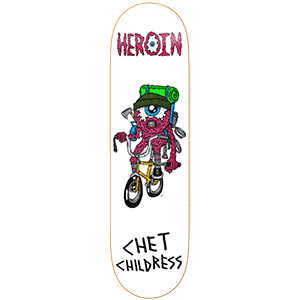 Heroin Chet Childress Eyeball Skateboard Deck 8.5