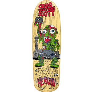 Heroin CQ Slime Guy Skateboard Deck 10.0