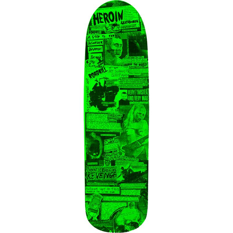 Heroin CQ Zine Skateboard Deck 9.0