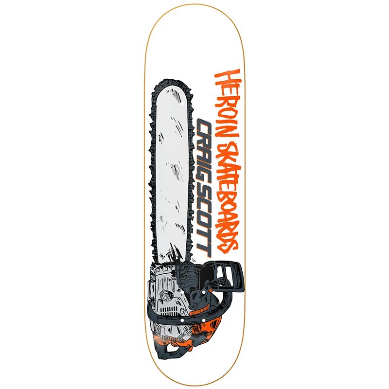 Heroin Craig Questions Chainsaw Skateboard Deck 8.75