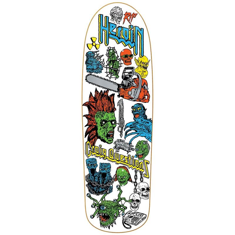 Heroin Craig Questions Video City DD Skateboard Deck 9.5