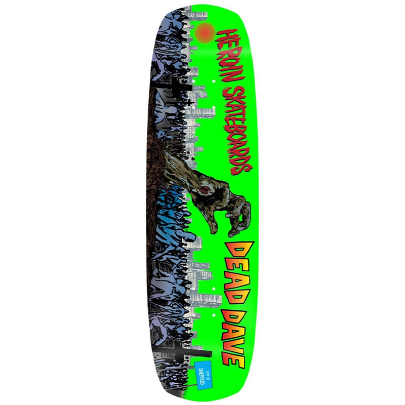 Heroin Dead Dave Double Shovel Skateboard Deck 9.0