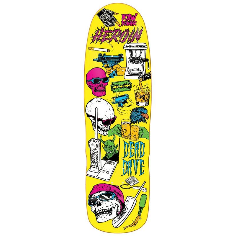 Heroin Dead Dave Video City Skateboard Deck 10.0