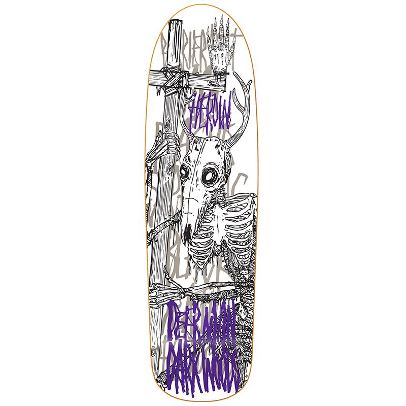 Heroin DMODW Skeletal White Skateboard Deck 9.25