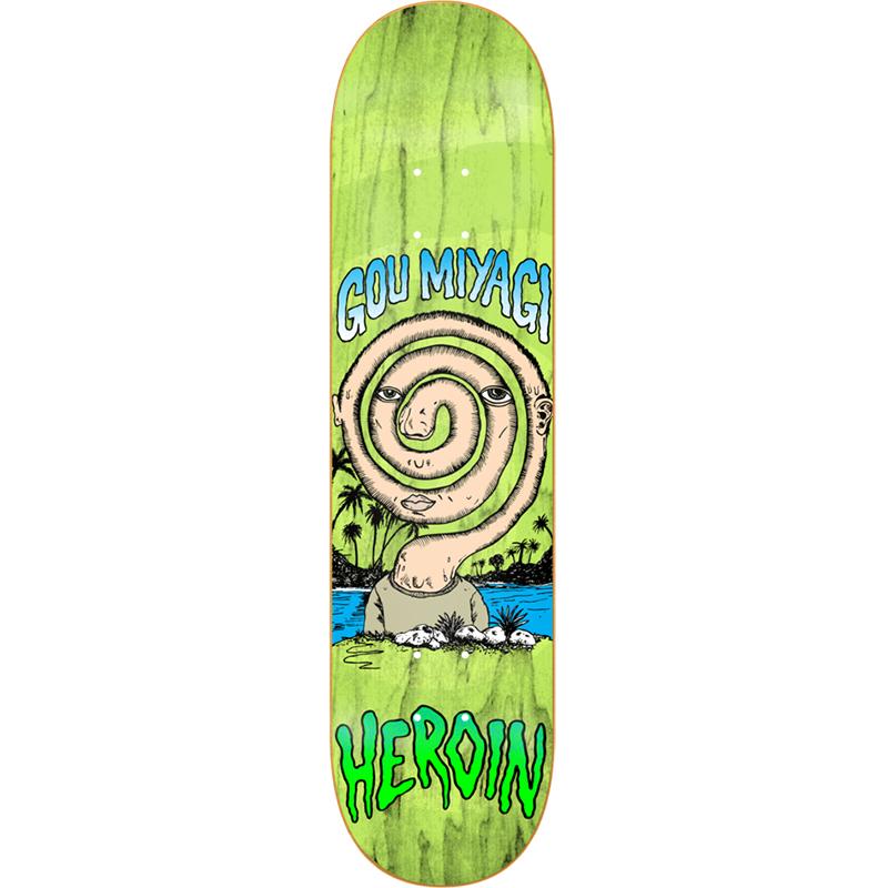 Heroin GM Spiral Alumni Skateboard Deck 8.125