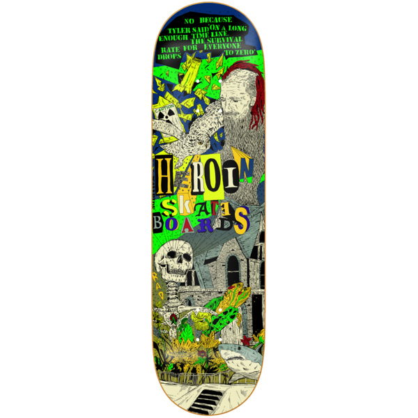 Heroin Hirotton Skateboard Deck 8.25