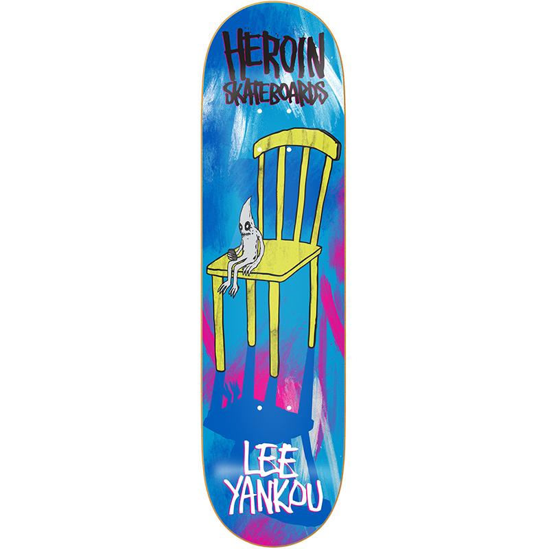 Heroin Lee Yankou Chair Skateboard Deck 8.44
