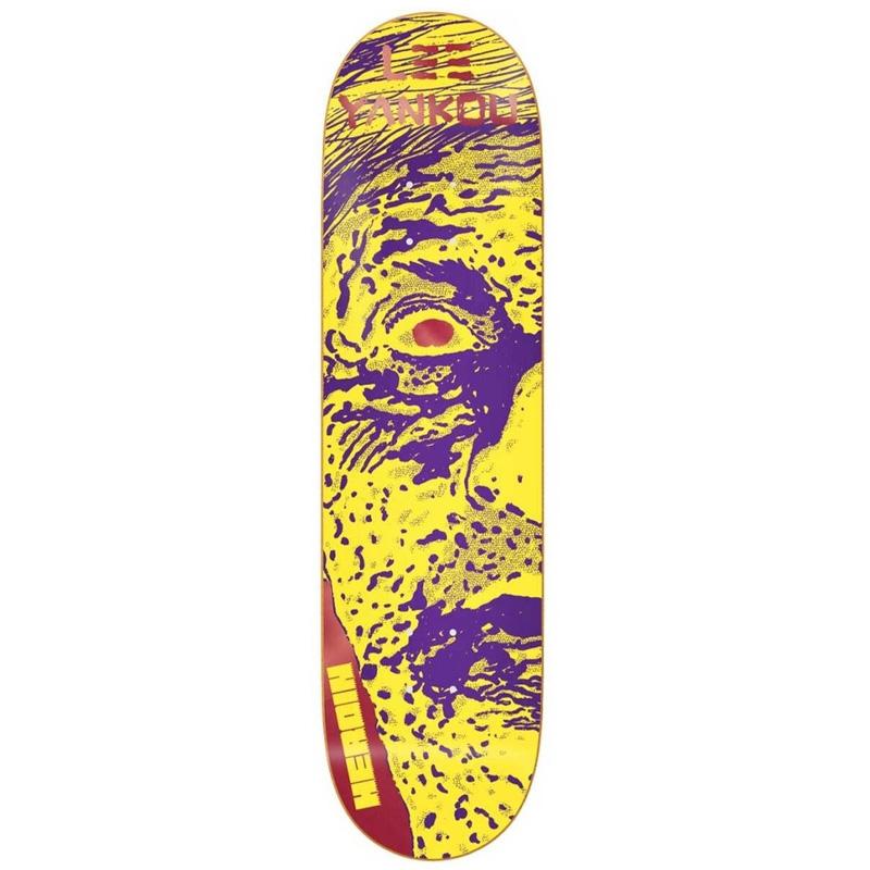 Heroin Lee Yankou Giallo Skateboard Deck 8.25
