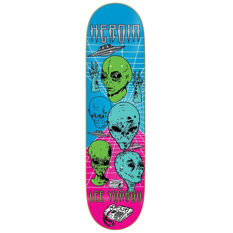 Heroin Lee Yankou Video City Skateboard Deck 8.25
