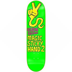 Heroin Magic Sticky Hand 2 Skateboard Deck Green 8.625