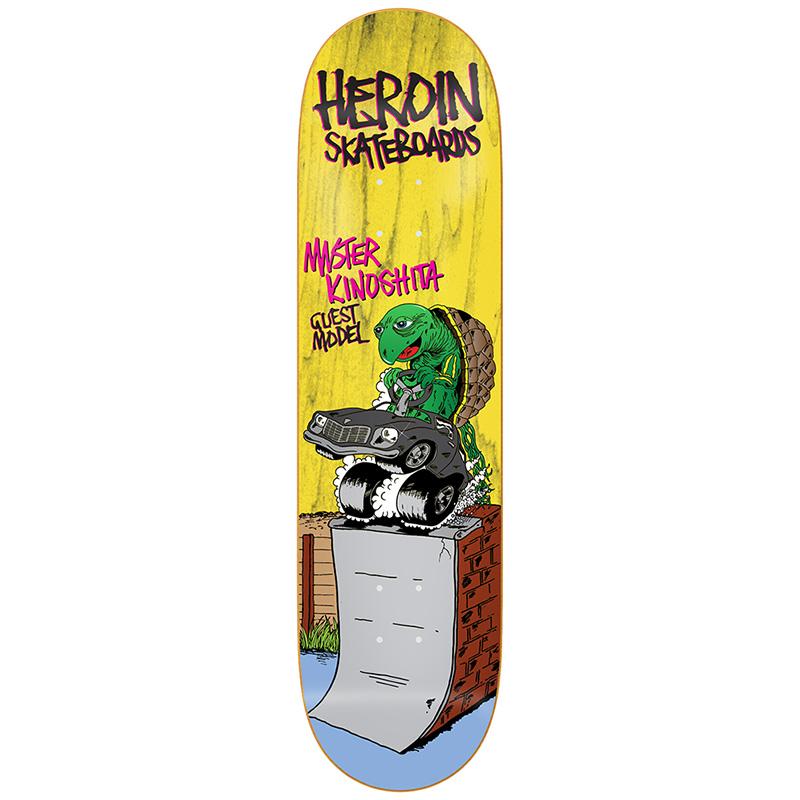 Heroin Mister Kinoshita Skateboard Deck 8.38