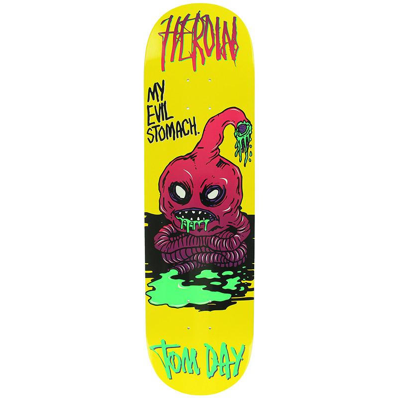Heroin Tom Day Evil Stomach Skateboard Deck 8.5