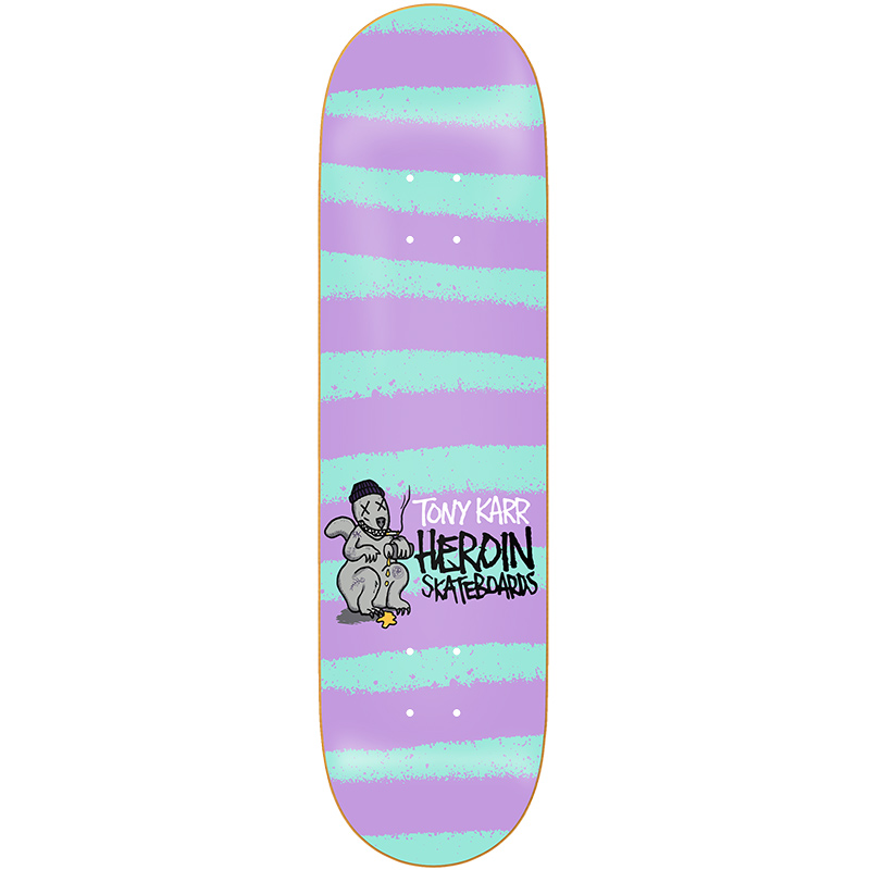 Heroin Tony Karr Striped Icon Skateboard Deck 8.25