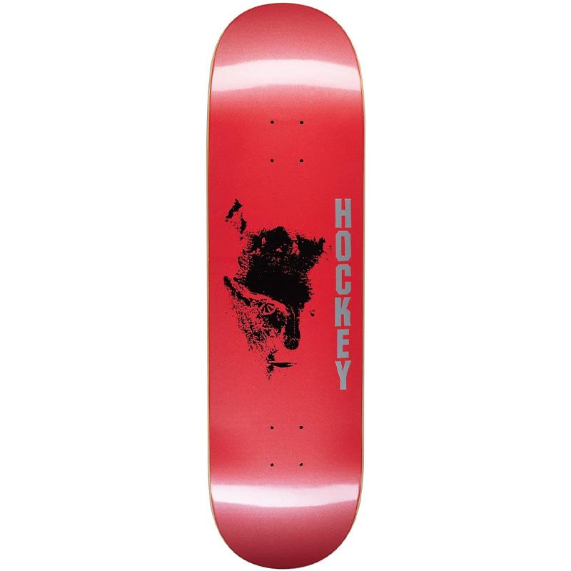 Hockey Chaos Skateboard Deck Red  8.75