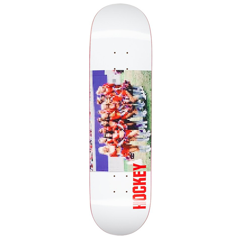 Hockey Cheerleader Skateboard Deck White 8.18