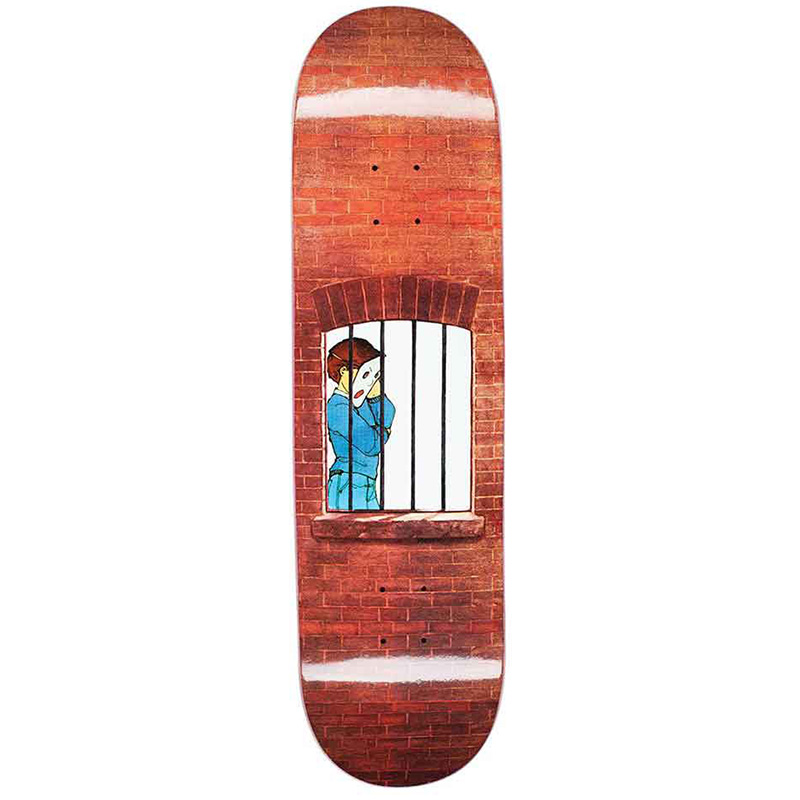Hockey Donovon Piscopo Behind Bars Skateboard Deck 8.38
