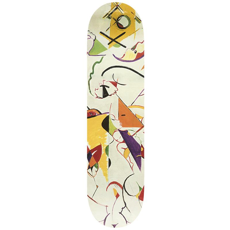 HUF X Miles Davis Self-Portrait Skate Deck Cream 8.25