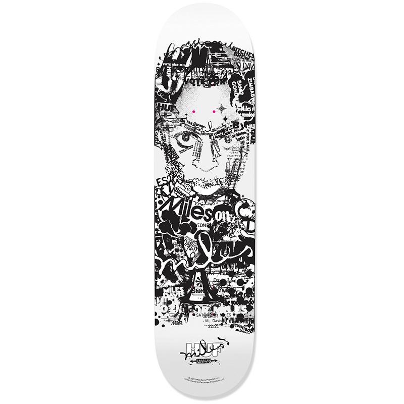 HUF X Miles Davis Vote For Miles Skate Deck White 8.25