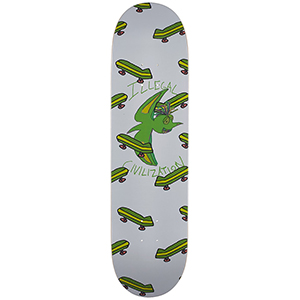 Illegal Civilization Green Dino Skateboard Deck 8.25