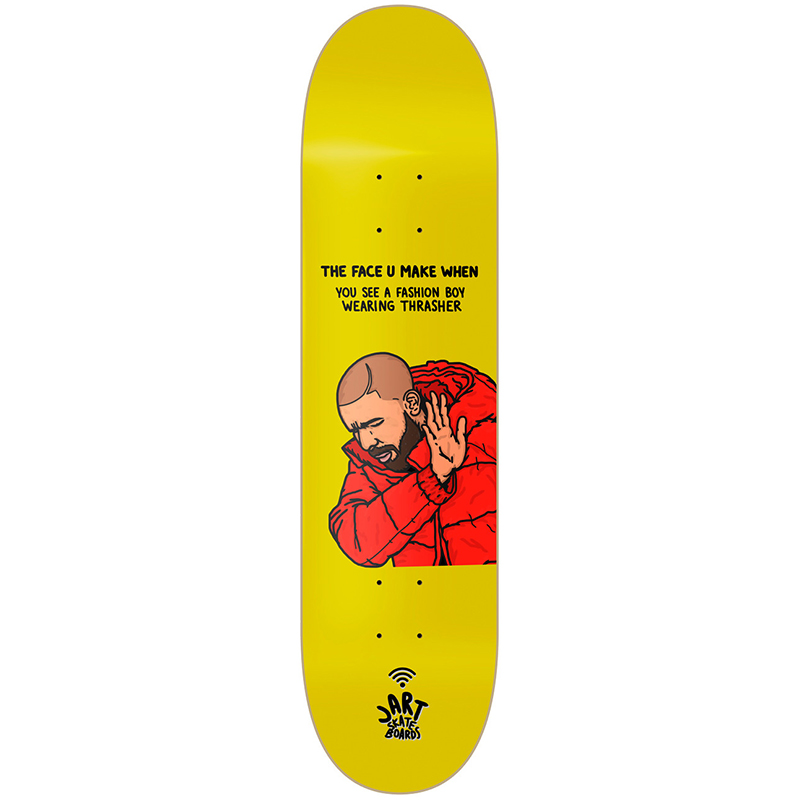 Jart The Face U Make When CFK Skateboard Deck 8.125