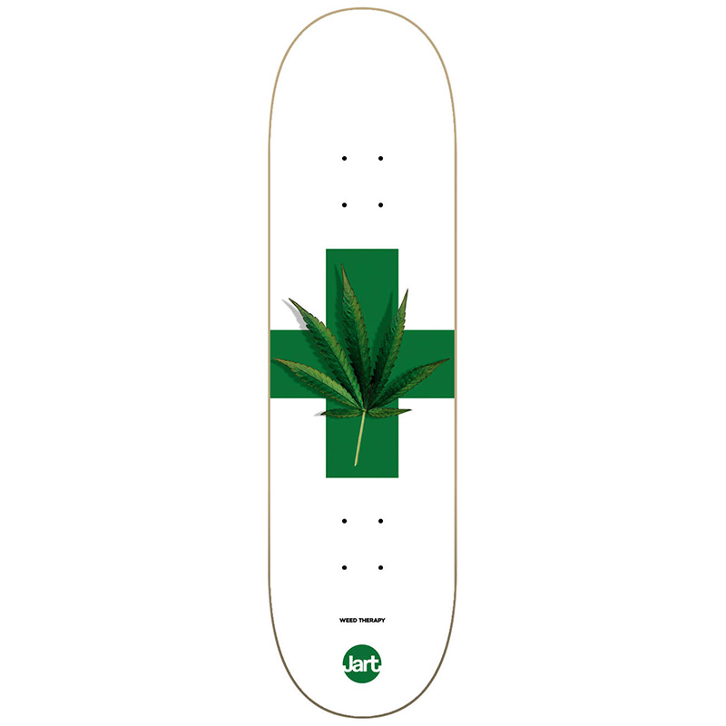 Jart Weed Therapy High Concave Skateboard Deck 8.25