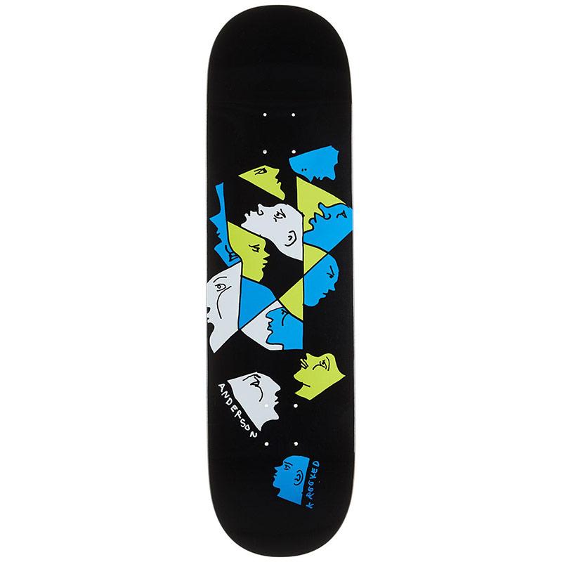 Krooked Anderson Prism Skateboard Deck 8.38