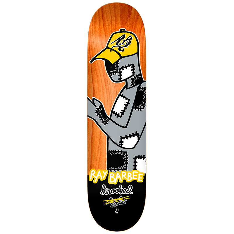 Krooked Barbee Redux Skateboard Deck Multi 8.25