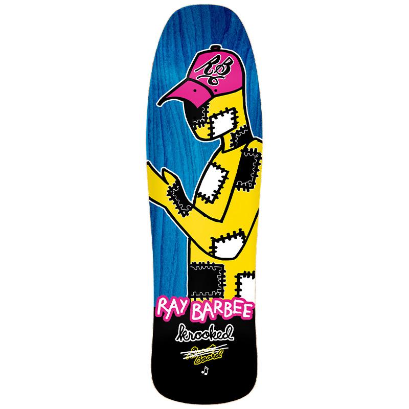 Krooked Barbee Redux Skateboard Deck Multi 9.5