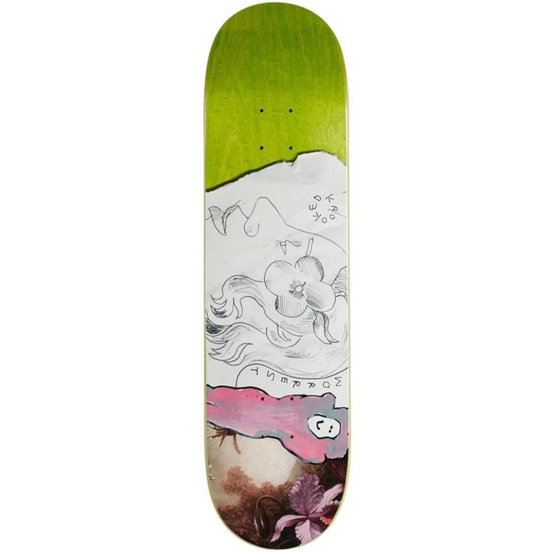 Krooked Bobby Worrest Flower Skateboard Deck 8.12