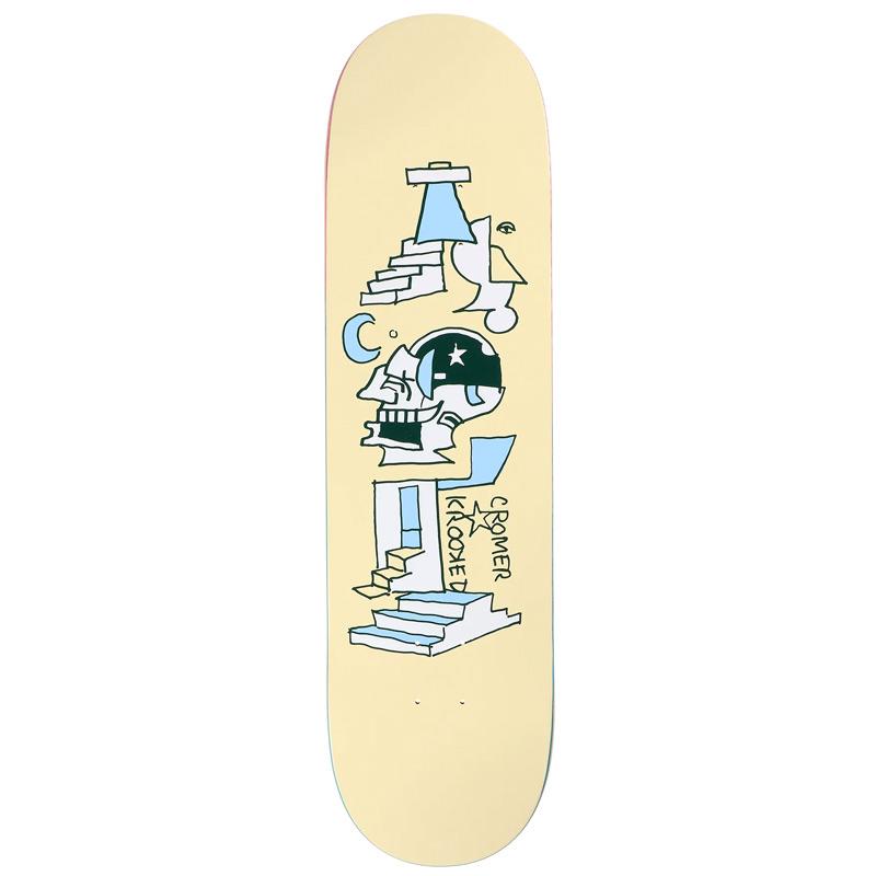 Krooked Brad Cromer Half Moon Skateboard Deck 8.25