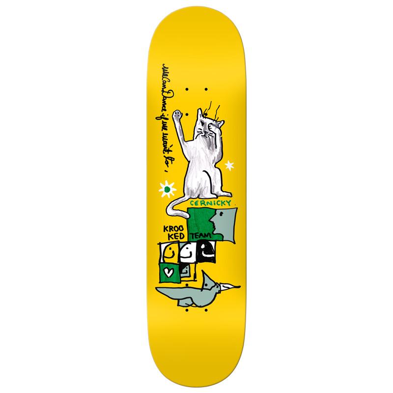 Krooked Cernicky Dance Skateboard Deck Yellow 8.06