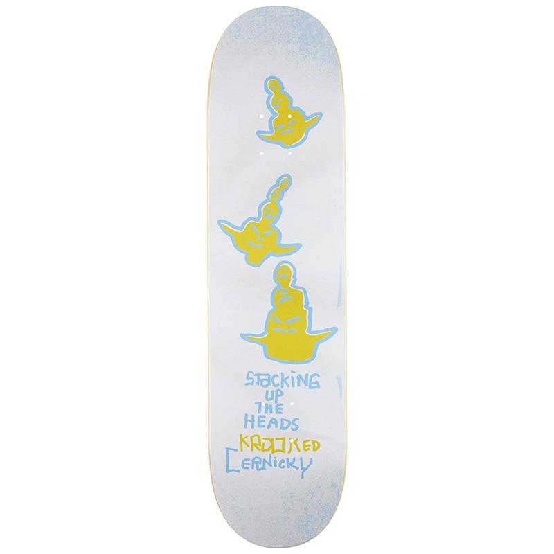 Krooked Cernicky Stack Skateboard Deck White 8.06