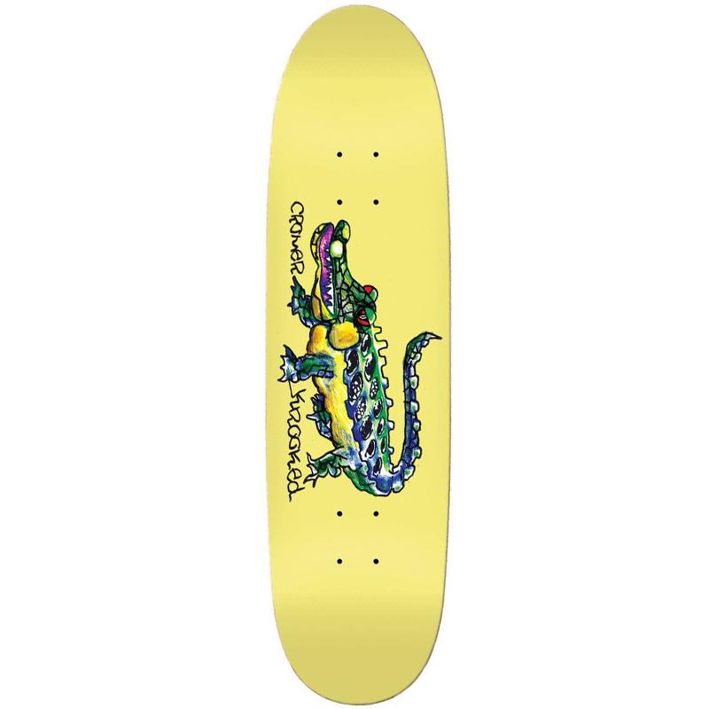 Krooked Cromer Gator Skateboard Deck 8.38