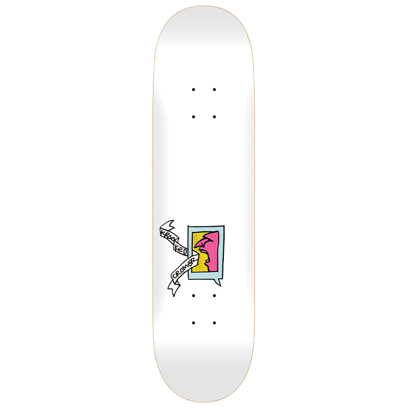Krooked Cromer Mini Frame Skateboard Deck White 8.5