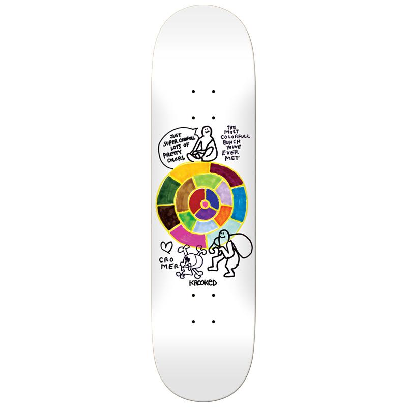 Krooked Cromer Pantone Skateboard Deck White 8.25
