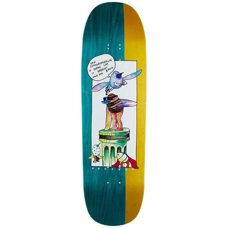 Krooked Drehobl Pedistol Skateboard Deck 9.25