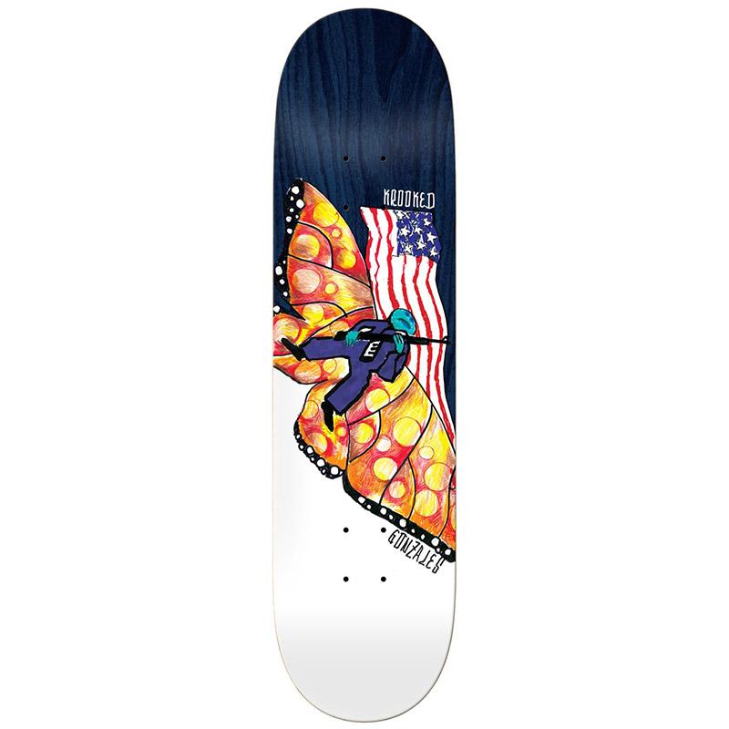 Krooked Gonz Dont Tred Skateboard Deck 8.75