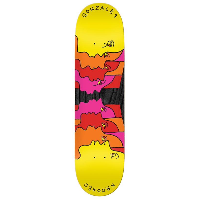 Krooked Gonz Face Off Full Shape Skateboard Deck 8.25
