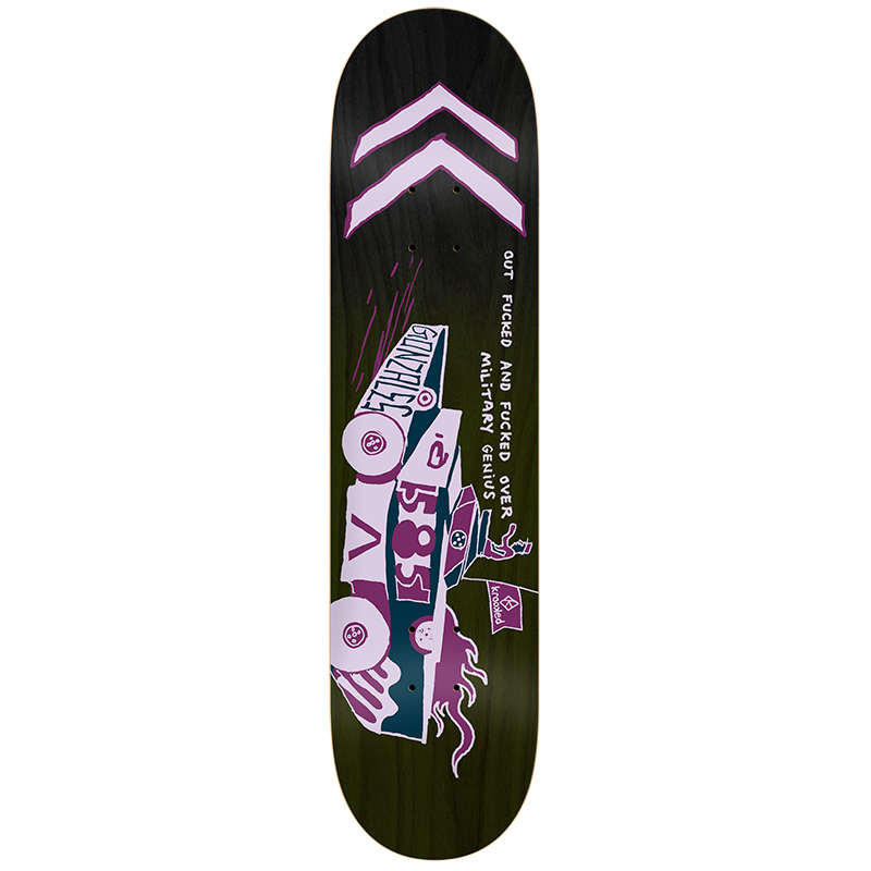 Krooked Gonz Military Genius Skateboard Deck 8.5
